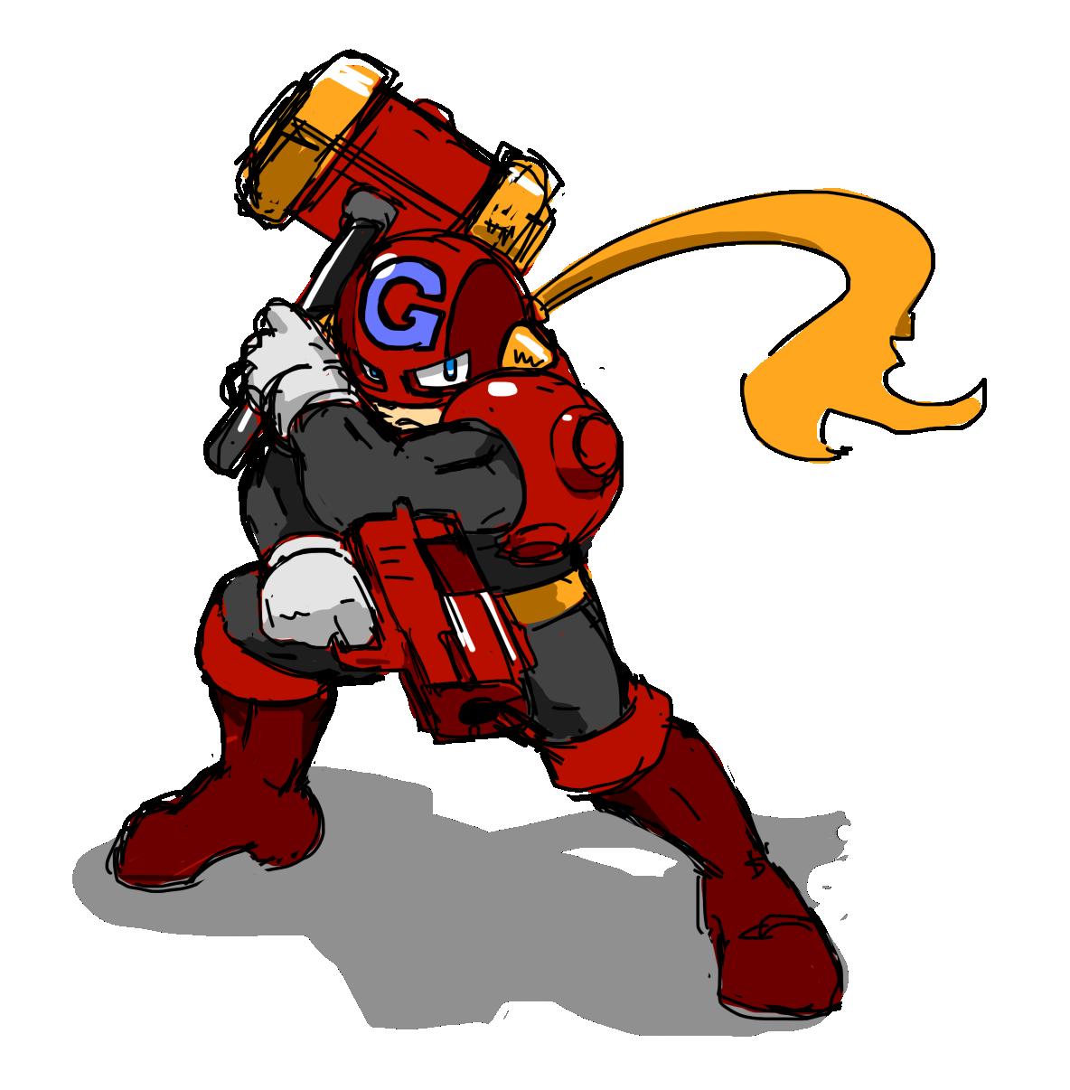 Crimson Smasher GUNHAMMER
