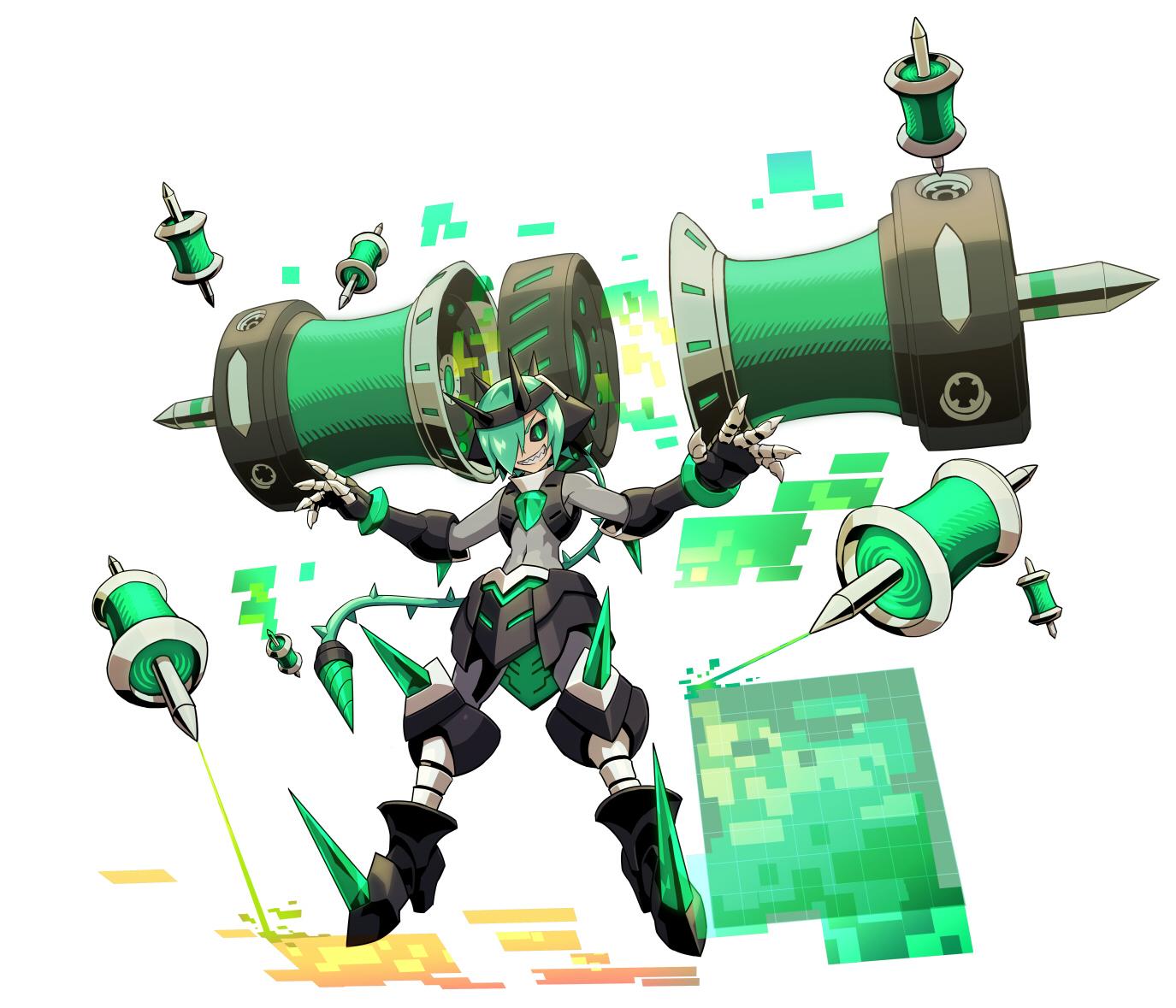 Gunvolt 2 Teseo transformed